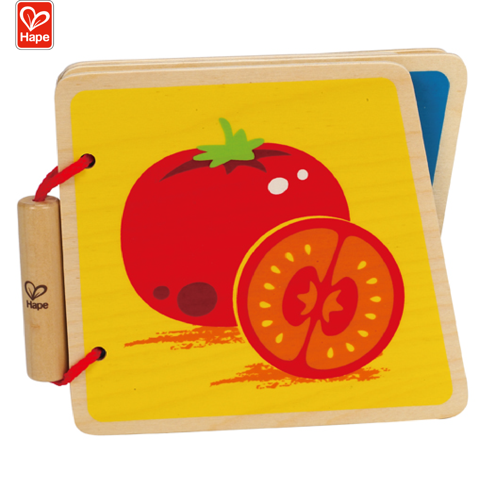 Hape Kids Educational Toy Baby Learning Vegetables Wooden Book