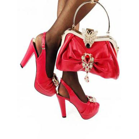 Ladies Shoes Combo - Shoes and Matching Bag Set 2021 Party Shoes and Matching Bag