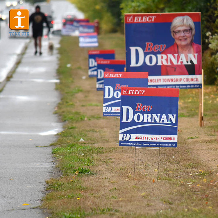 Indoor customized high quality real estate election yard signs thank you