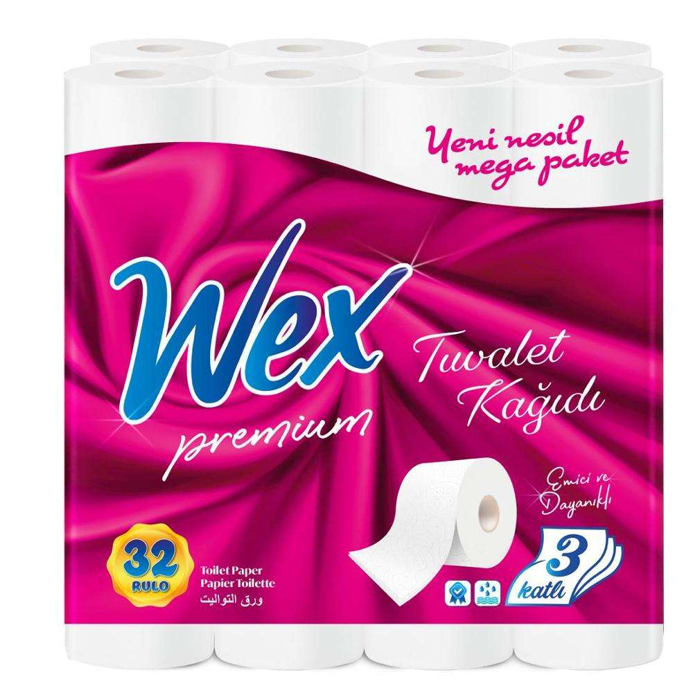 Toilet Paper 2ply Tissue Rolls 32 rolls Soft White Wood Gsm Packing Material Virgin Pulp Paper