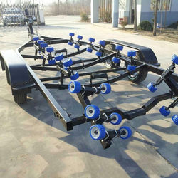 boat trailer with hot galvanized