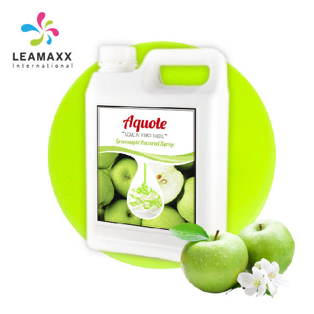 Ready to Ship Taiwan Popular Concentrated Juice Green Apple Syrup for Bubble Milk Tea