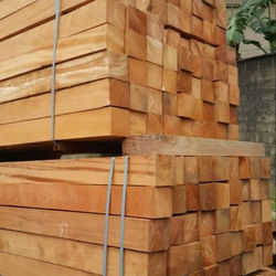 Pachyloba sawn lumber and round logs