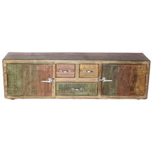 Long Antique And Reclaimed Wood Made Latest Design Multi Light Color Painted Handcraft Wooden Made Sideboard
