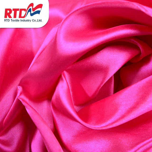 RTD Swiss Silk 100% Polyester Fabric Premium Grade Products For Garment - Hot Pink WD1307