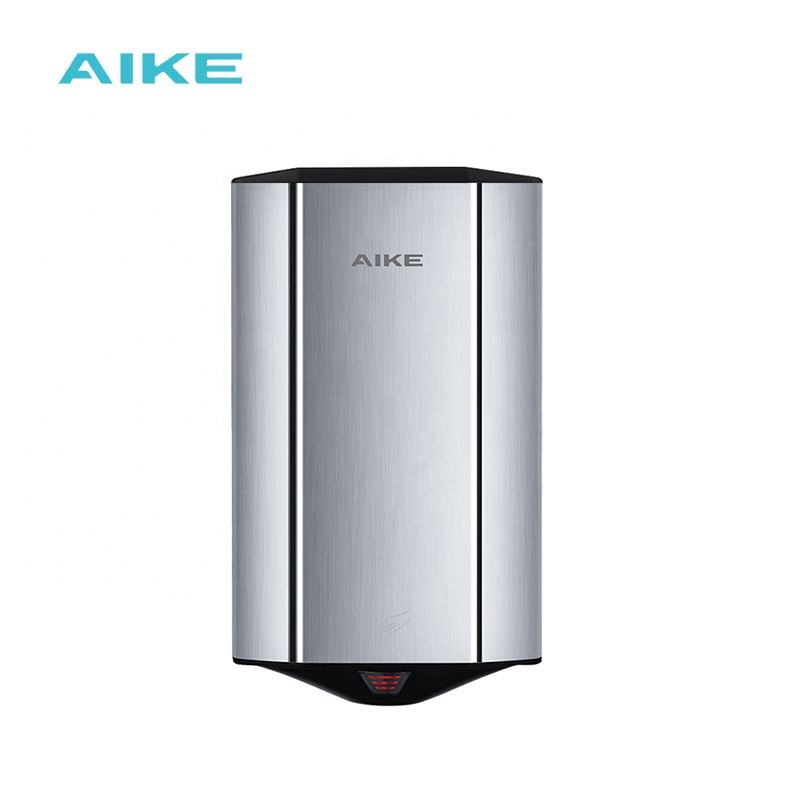 AIKE AK2807 China factory Bathroom Toilet Automatic Sensor Stainless Steel Air Mini wall-mounted hand dryer