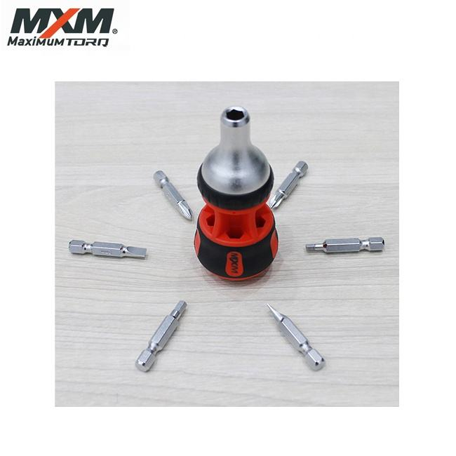 Made in Taiwan High Quality 7 in 1 Stubby Multi Bit Ratchet Screwdriver | mini screwdriver set
