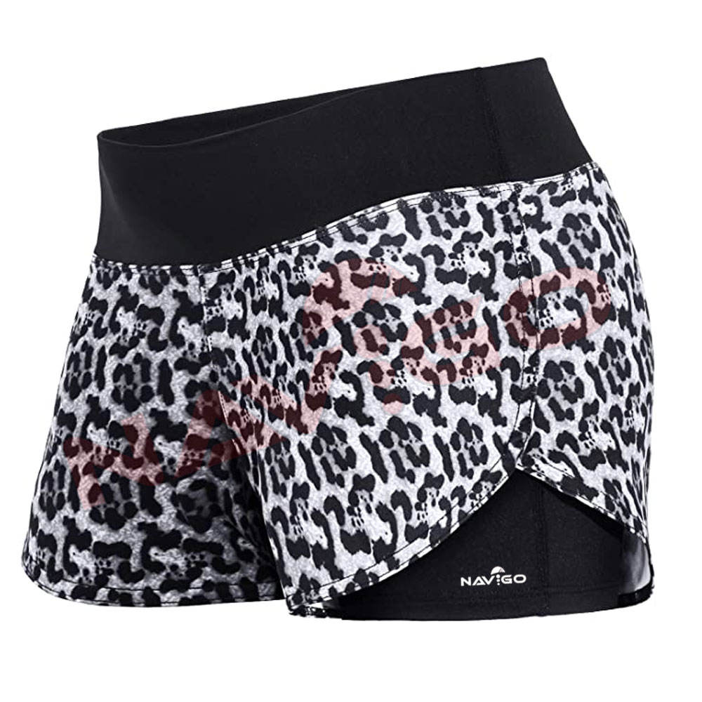 Women Outdoor Fitness Shorts Quick-Dry Sports Fitness Shorts With Built in Pocket With Best Material In Sublimation Design