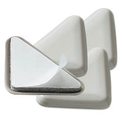 Cabinet Floor Savers, Triangular 7w X 1.13d X 8h Beige 4 Pack 87008 Polymer Plastic Discs Protect Floors From Scratches