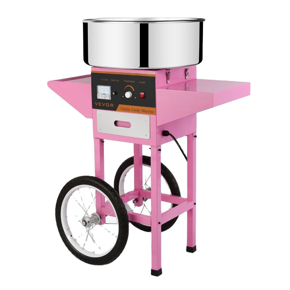 Commercial Electric Cotton Candy Machine/ Candy Making Machine/ Hard Candy Machine with Cart Stand