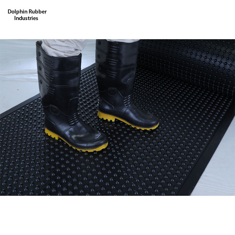 Unique Bubble Design Rubber Bubble Roll Floor Mat to Reduce Fatigue