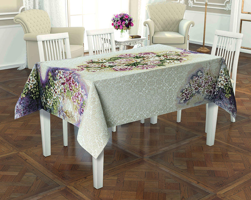 Jacquard Tapestry Fabric Tablecloth Made In Turkey