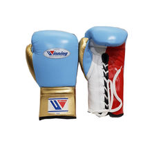 Hot sale custom style Leather Boxing Gloves design Mexican style leather boxing gloves with winning or any name or brand logo
