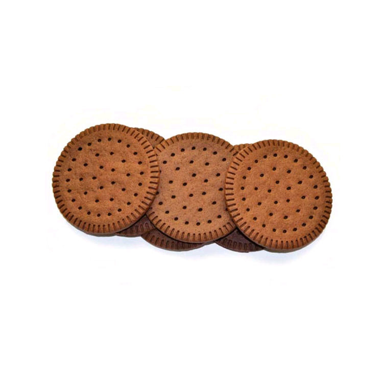 Soft Texture Sweet Taste Oval Shape Sandwich Biscuits for Ice-cream Bulk with Cocoa