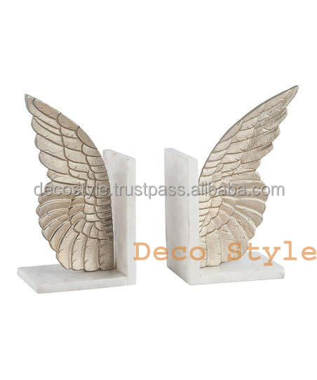 GOLD Angel Marble Bookend