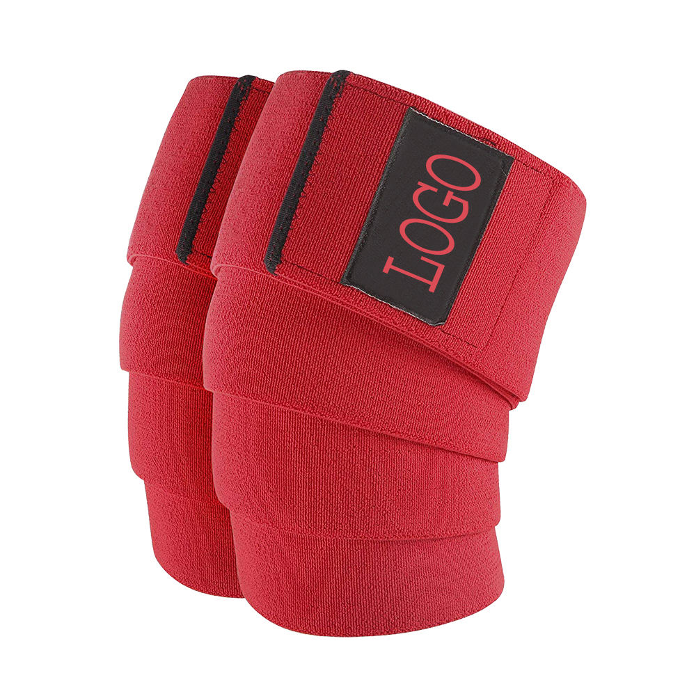 2021 OEM Heavy Duty Fitness Weightlifting Knee Wraps Custom all color Available