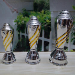 Electroplated Line Ceramic Trophy Components for Trophy Cups