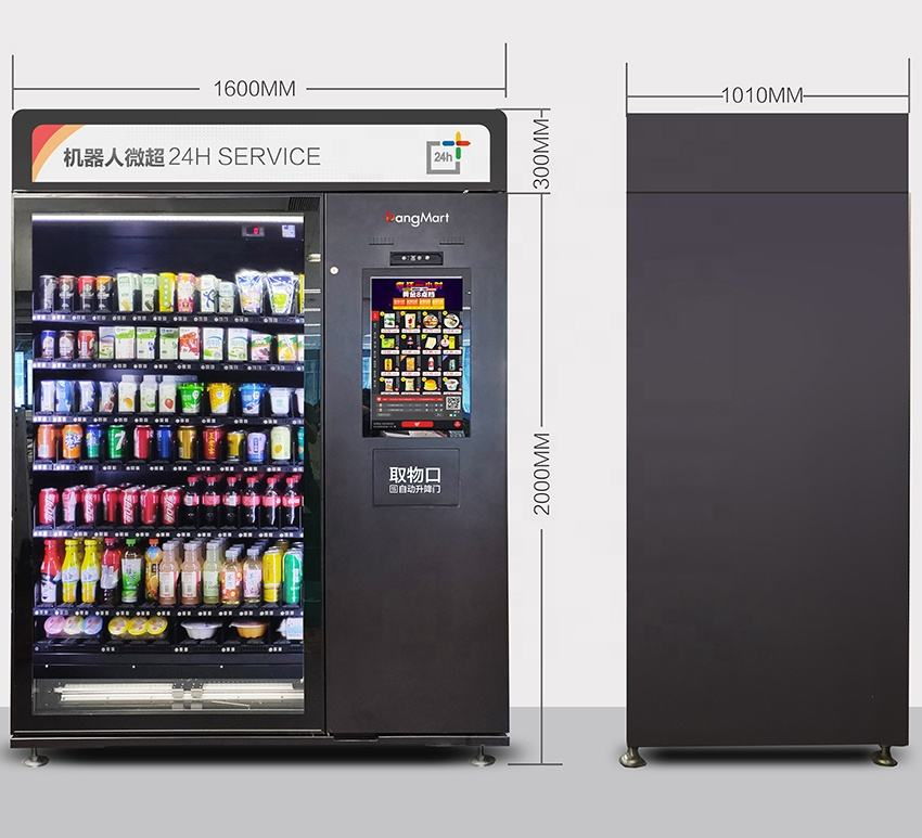 large touch screen vending machines for milk coffee beer cans