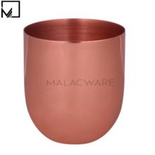 Small Rose-Gold Finish Candle Jar Copper Candle Holder for Scented Wax