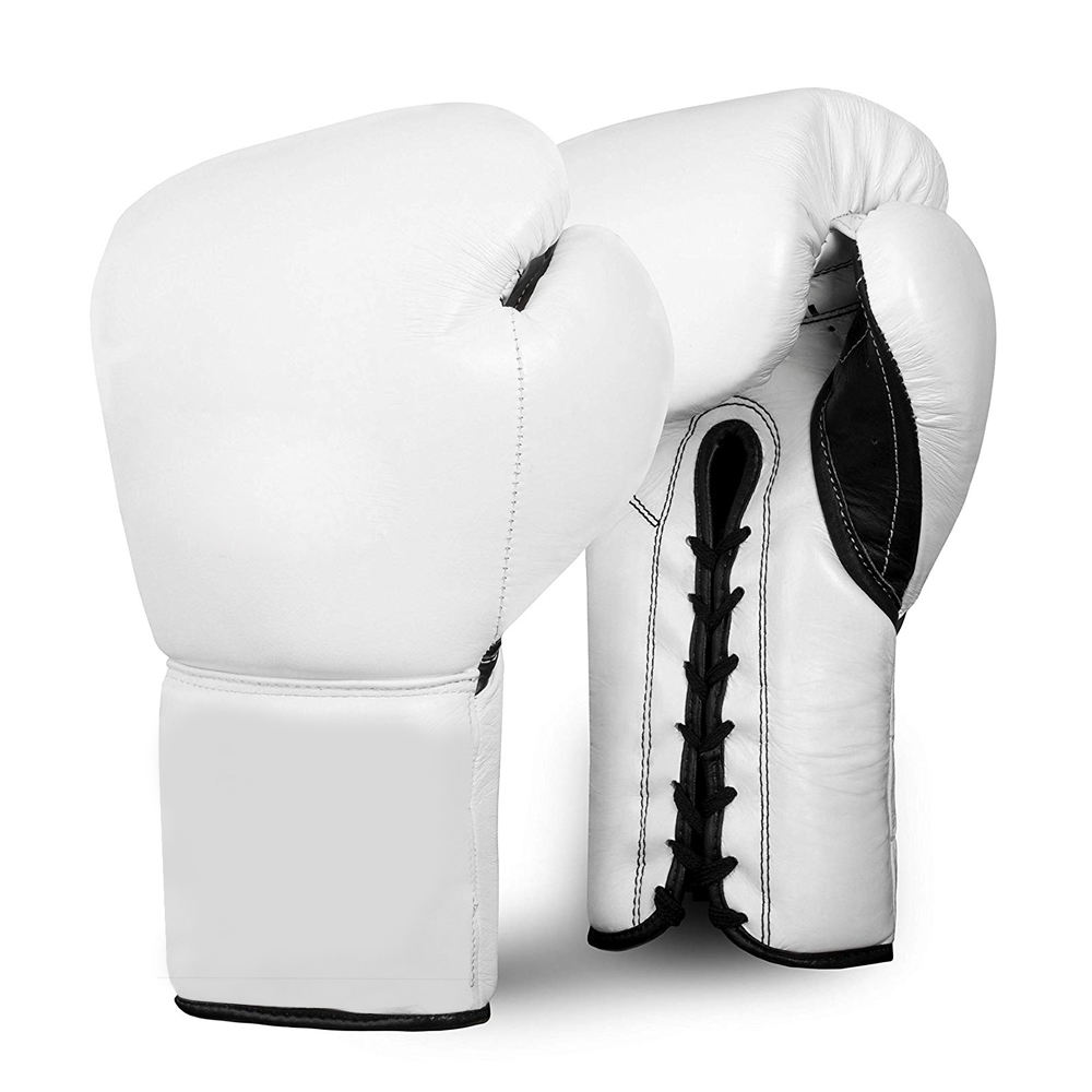 2020 New Boxing Gloves Muay Thai Lace Up Ring Fighter Training Boxing Gloves