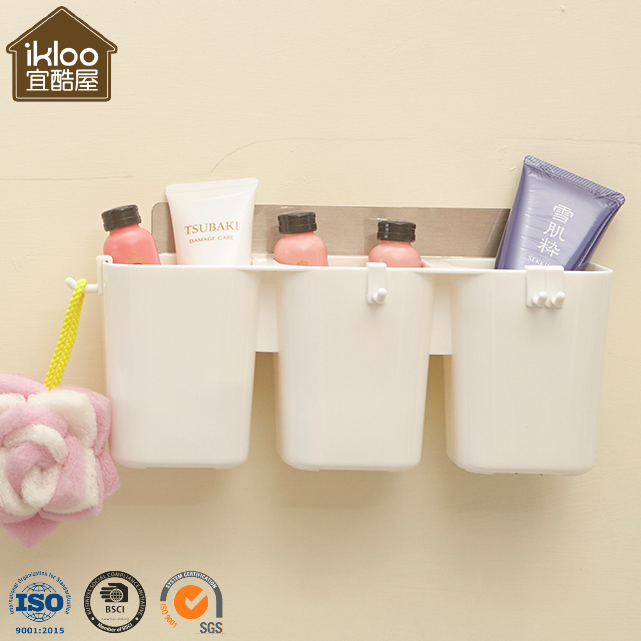 Taiwan Manufacturer Wall Mounted Bathroom Set Plastic Toothbrush Holder with Large Capacity