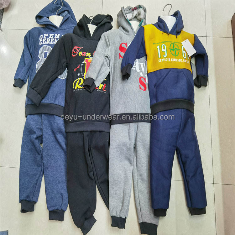 1.28 Dollars Model CGL693-3 Series Size 1-5 Years Long Sleeve Kids 2pcs Hoodies Outfits Cheap africa clothing