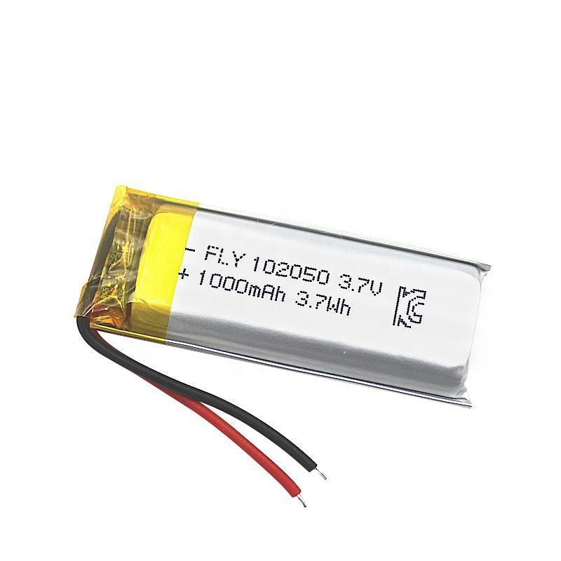CB certificated Lipo 3.7V 1000mAh Lithium Battery 102050 for Fishing Lights
