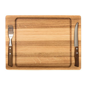 Premium Quality Serving tray wooden set - OAK chopping steak board  fork   knife  buy wholesale direct from the manufacturer