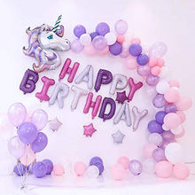 Castle Unicorn Balloons for Birthday Birthday Decorations for Girls, Unicorn Party Decoration for Girl Birthday