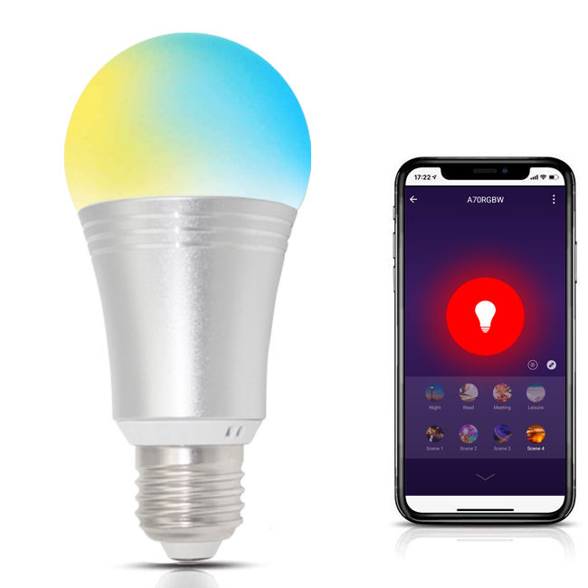 Slimme Lamp Wifi Dimbare Led-lampen Werken Met Alexa Google Home Easy Setup Schema A19 E26 60W Equivalent