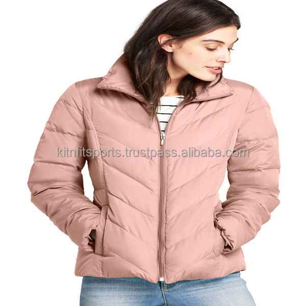 women hot winter wholesale custom gen 1 in 2 power bank puffy jacket wholesale fashion blank