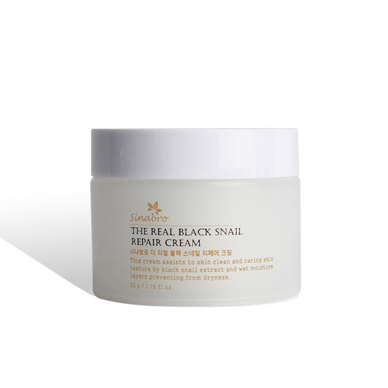 The real BLACK snail Repair Cream 50g with Korean cosmetics, Skin care for whitening, wrinkle improvement, anti aging