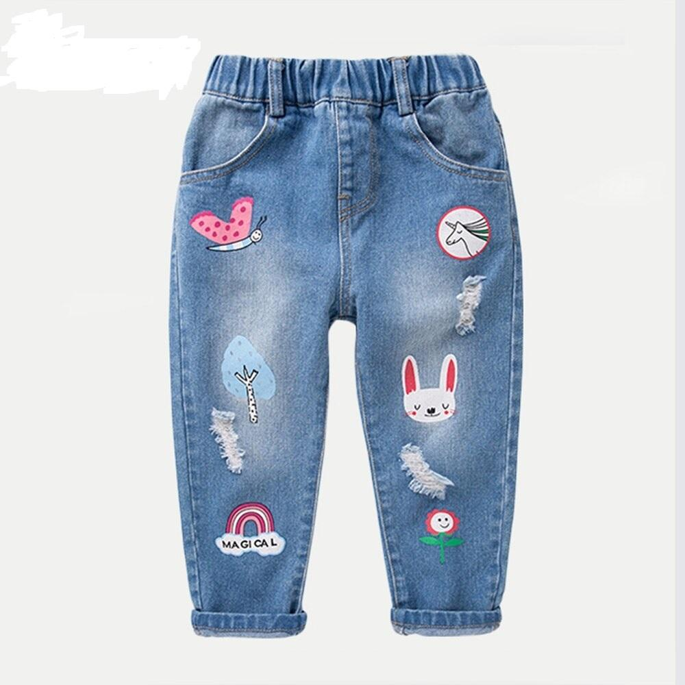Stylish High Quality Export Oriented Printed Jeans Pant For Baby Girl From Bangladesh