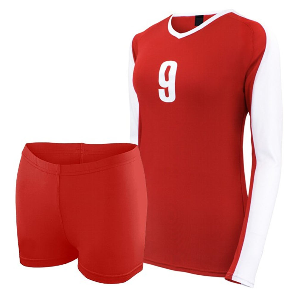 Customized Sublimation Womens Long Sleeve Volleyball Jerseys