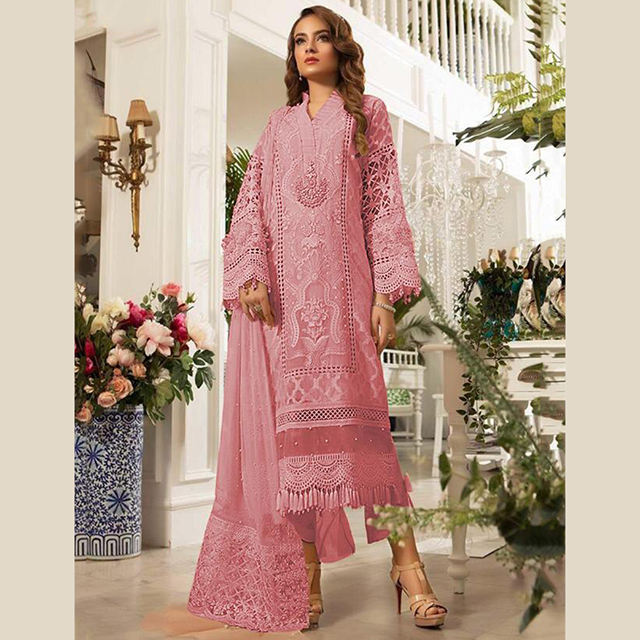 Style pakistanais Nouveau Design Broderie Organza Salwar Costume Collection