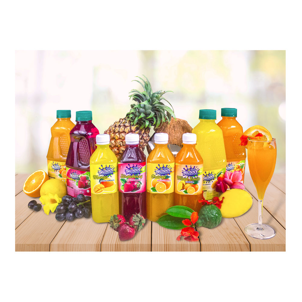 Famous Ooh Sunny Cordial Brand Fruit Juice from Malaysia Available in Multiple Flavours