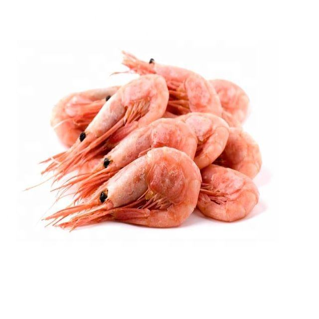 Cooked Frozen BQF IQF pandalus borealis northern shrimp