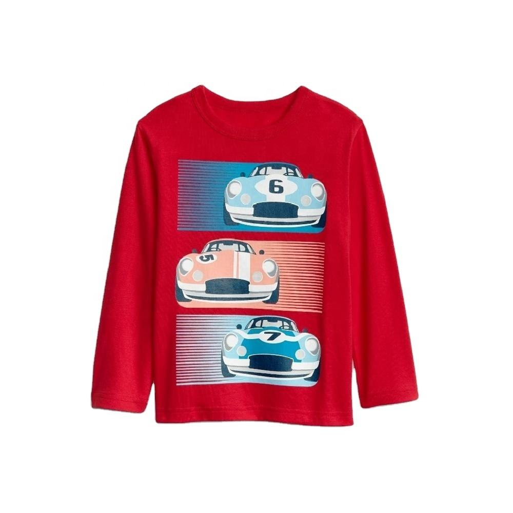 Boys long sleeve t shirt with car graphic