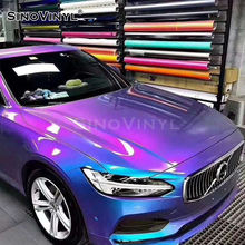 SINOVINYL 1.52x18M Factory Price Chameleon Matte Gloss Metallic Glitter Rainbow Color Change Auto Decoration Car Wrap Vinyl Film