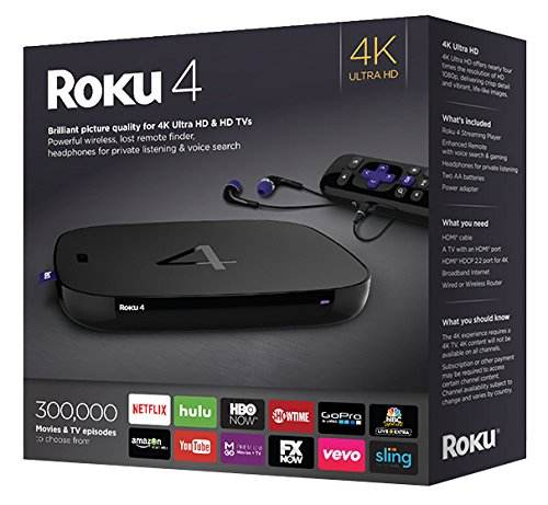 PREMIUM Roku 4 Streaming Media Player 4400R 4K UHD
