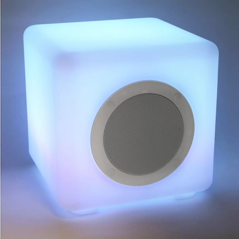 Free-customized size waterproof Bluetooth led cube speaker