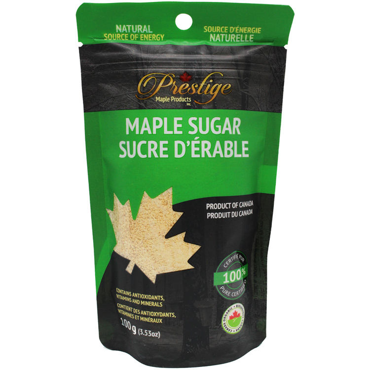 Maple Syrup Refined Regular Granulated Maple Sugar, 100g