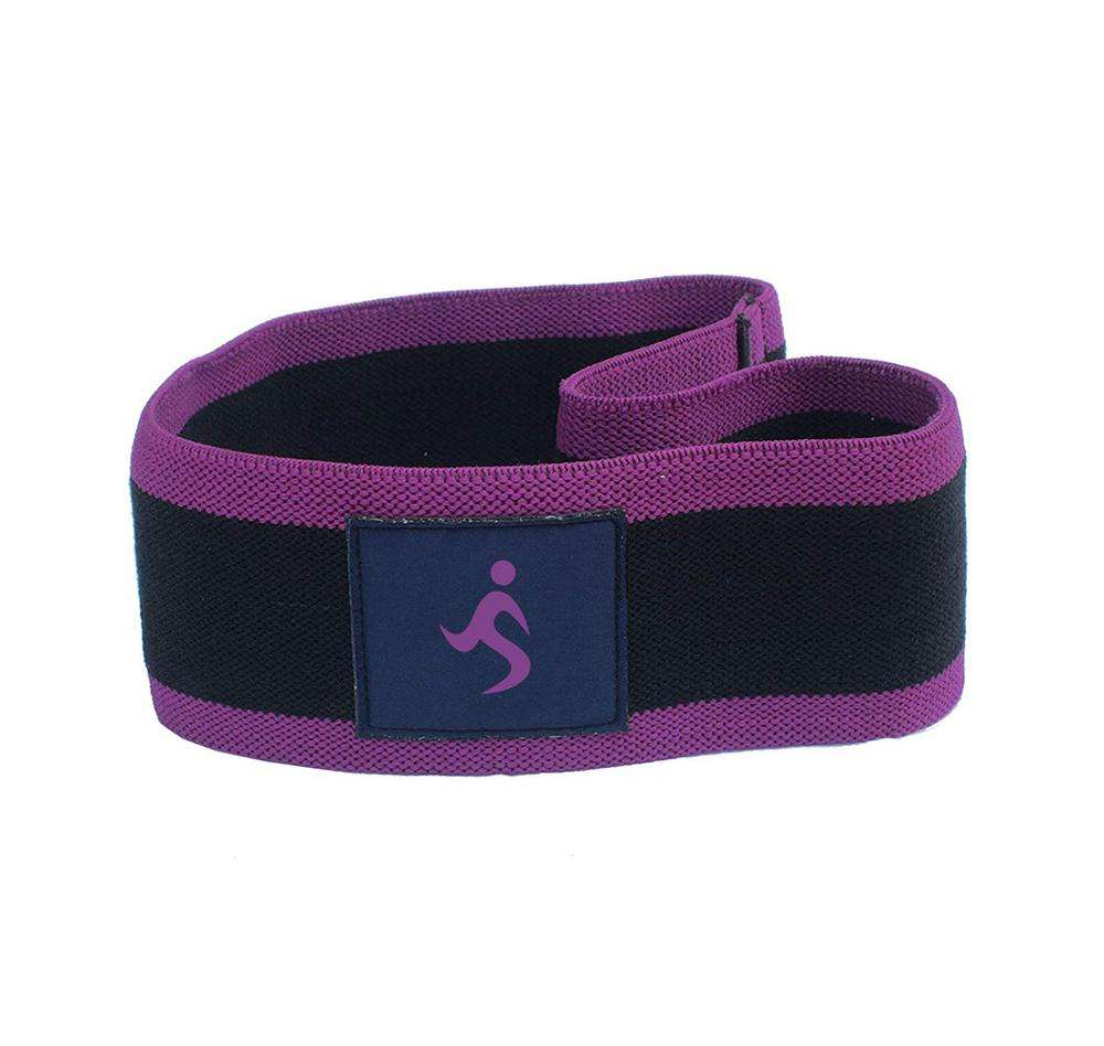 Customize 100% Cotton Elastic Black With Purple Outline Strength Training Exercise Hip Circle Resistance Band