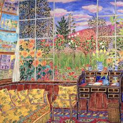Best Print Canvas Monet's Studio in Giverny I With Size 14 x 16.5 in (36 x 42 cm) From UK