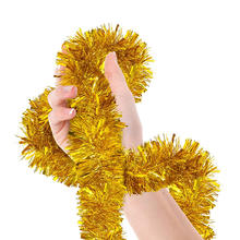 Christmas Tinsel Garland  Celebrate a Holiday New Years Happy Party Indoor and Outdoor Disco Party Decorations Supplies