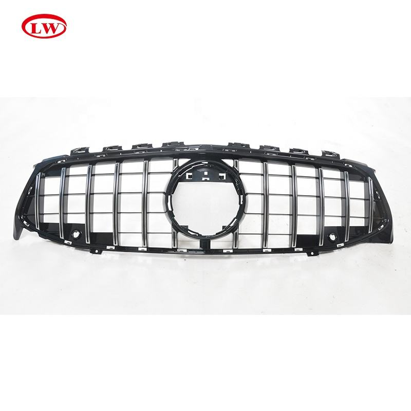Cla [ Grille ] Hot Sale GT Style Chrome Front Grille For Mercedes Benz CLA W118 2020 ABS Car Front Bumper Grille