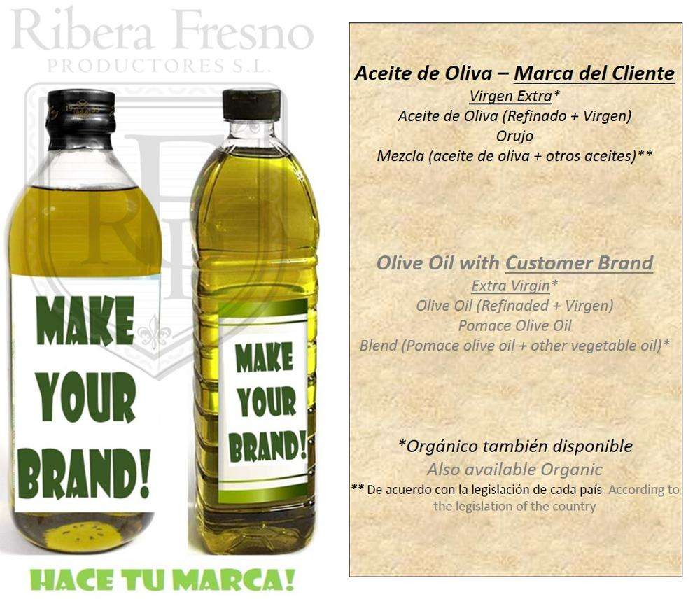 Extra Virgin Olive Oil with customer brand