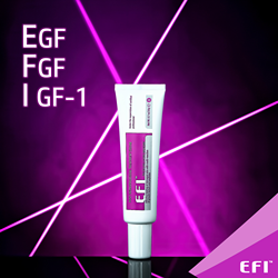 Post-procedure cream EFI EGF FGF IGF-1 Copper Tripeptide-1 skin regeneration Growth factor for irritated skin