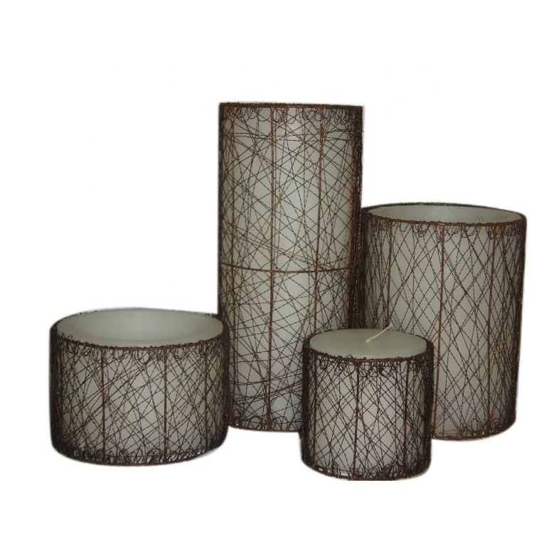 New Modern design cage candles for home decoration