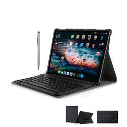 Tablets 2 in 1 Android 9.0 Tablet PC 10 Inch 4+64GB Wifi 4G Call Phone Tablets with wireless Keyboard+pen stylus